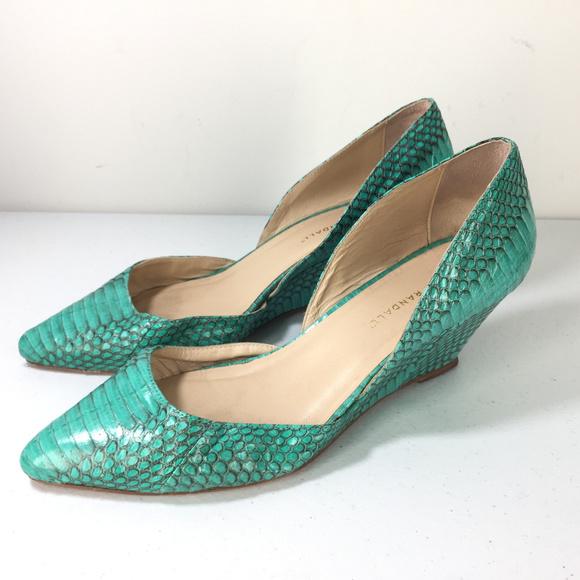 6b8ecdc5a7414 Loeffler Randall Shoes   10 Turquoise Green Dorsay Wedge   Poshmark
